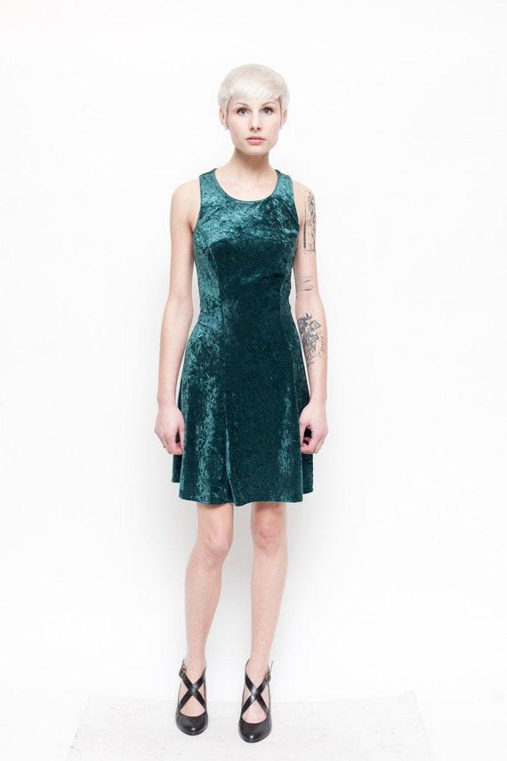Green Velvet Dress Grunge Revival Size Medium