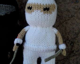 Storm Shadow GI Joe  Hand Knit-soft stuffed toy doll