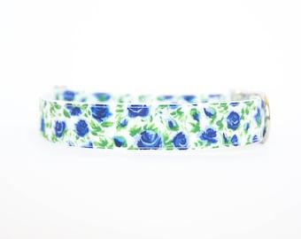 Liberty of London Dog Collar - Blue Roses