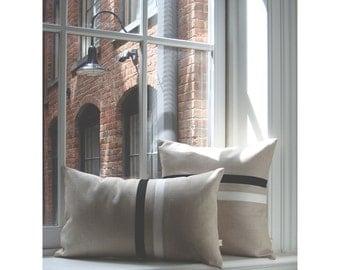 Black and White Striped Pillow Set   (12x20) and (16x16) by JillianReneDecor   Urban Home Decor   Minimal   Classic Black and White Stripes