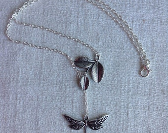 Dragonfly and Branch Necklace