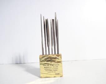 Vintage Needle Files..Ludell Needle Files..Made in Poland..Jeweler Files..Vintage Jewelers Tools..Vintage Files Tools