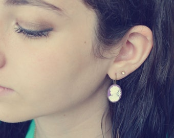 Emma Plum  Cameo earrings