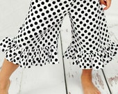 Capris - Dot Capris - Black and White Capris