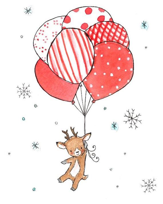 Holiday Decor -- BABY'S FIRST CHRISTMAS -- Art Print