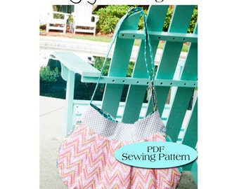 Pleated Bag Pattern,Diaper Bag, Messenger, Adjustable Strap, Pleated Purse Pattern PDF Sewing Pattern Ebook Sewing Tutorial DIGITAL FILE