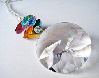 Round Rainbow Crystal Suncatcher/Car Charm