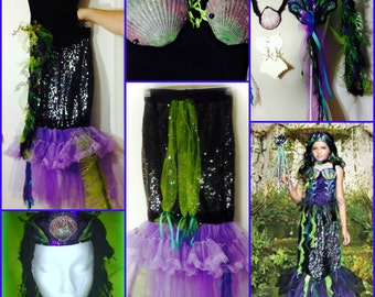 Toddler Youth Custom Made EVIL MERMAID Costume  Pageants, Parades, Halloween, Photo's, Theater