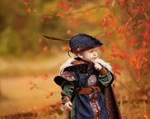 Robin Hood Boys Hat, Quiver with arrows and Cape CUSTOM for aprylclara
