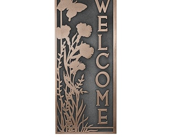 Garden Dream Welcome Plaque with Butterfly Or Address Plaque 10 x 24 inches Custom Made for you