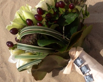 Three Photo Bouquet Charm