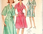 Butterick 4040 1960s Misses Wrap Around Robe Pattern Side Tie 2 Lengths Shawl Collar Womens Vintage Sewing Pattern Size 16 Bust 36 UNCUT