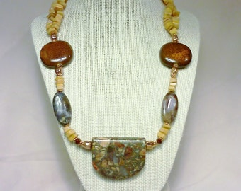 Beautiful Picasso Jasper Necklace