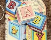 Retro Congratulations Baby Shower Favor Gift Tags #408