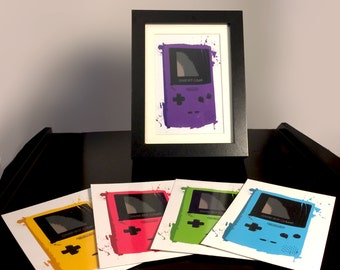 Framed Individual Gameboy Color Splattery Photoprint