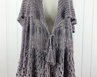 East Hampton Vintage Cape Crochet Pattern PDF