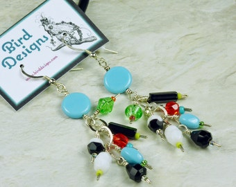 BirdDesigns Sterling Silver Earrings - ooak - J570