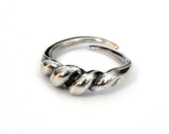 Ancient Solid Sterling Silver Viking Bornholm Ring Norse Saxon Ring 288