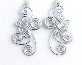 Dangle Spiral Earrings