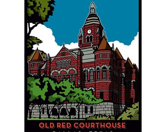 Old Red Courthouse Framed Art Print
