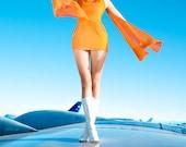 Pan Am a high fashion haute couture photography art print color fashion photography fashion magazine editorial airplane