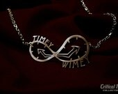 Timey Wimey necklace in laser cut stainless steel - science fiction geekery Doctor inspired