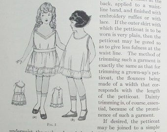 Children and Misses' Garments 1922 Woman's Institute of Domestic Arts & Sciences - vintage 1920s needlework dressmaking sewing book 20s