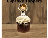 Cheer Party - Set of 12 Cheerleader Cupcake Toppers by The Birthday House