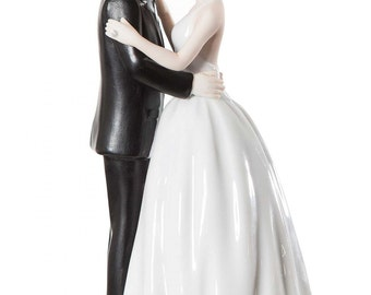 Romance Kissing Couple  Cake Topper Figurine - Custom Painted Hair Color Available - 707569