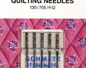COUPON CODE SALE - Schmetz Sewing Machine Quilting Needles, Pkg. of 5, Size 11/14, Designed Specifically for Quilting Projects