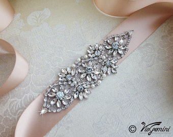 BEST SELLER Bridal sash, rhinestones and pearl sash, wedding sash, jeweled sash belt