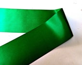 Emerald Green Double sided 4 inch satin ribbon, double faced widest option by the 1, 2, or 5 yards, 22 total colors available, DIY supply