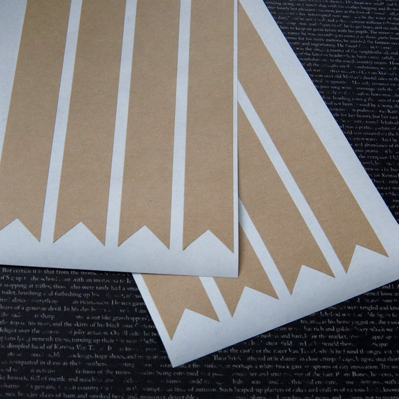 24 pennant flag sticker labels wrap around banners 7 5 for Banner wrap