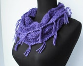 Crochet Pattern for Lacey Bohemian Circle Scarf Cowl Mobious Snood