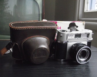 1960's Kalimar C-64 35mm Film Camera with Case, Original Box, andamp; Instructions