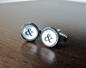 Ampersand cuff links // Typewriter cufflinks (one pair)
