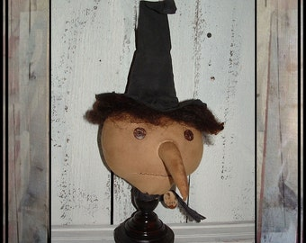 Primitive folk art witch make do HAFAIR HAGUILD OFG American made