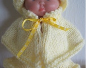 Knitting Pattern Springtime Cape & Skirt Set 5 inch Chubby Berenguer Baby Dolls WG320 doll clothes