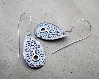 Moonlight Dance Earrings, Tribal Goddesses, Light Weight, Lost Wax Cast, Sterling Silver, Artisan Jewelry