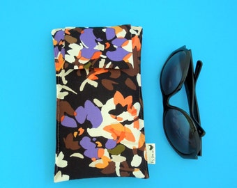 NEW SALE Roomy Sunglasses Case in a Design of Abstracts