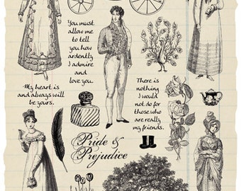 Waiting for Mr. Darcy rubber stamp collection