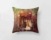 Faerie Road Cushion Cover, Fairy Land Pillow Slip, Door to Enchanted Realm