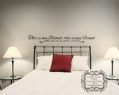 This is my Beloved, this is my Friend Wall Decal