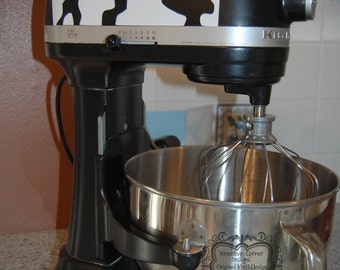 Stand up Mixer Cow Print Vinyl Decal