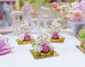 Easter St Honoré Pastry with Candy Bunny and Eggs - 12th Scale Miniature Food