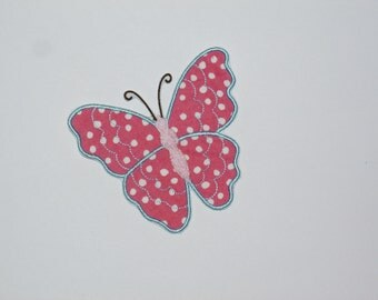 Embroidered Iron On Applique- Butterfly 1