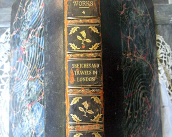 Antique Thackeray book, 1899, limited edition with uncut edges, William Thackeray literature, unread antique book, rare numbered book