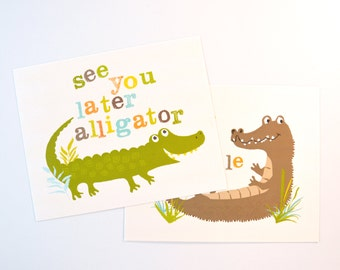 See you later, Alligator wall art, nursery wall decor for children, art for kids, baby art