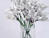 SMALL Kusudama Flowers with stems - Dozen - Choose type of paper