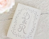 Personalized Rustic Wedding Guest Book Shabby Chic by Morgann Hill Designs #MorgannHillDesigns #BraggingBags